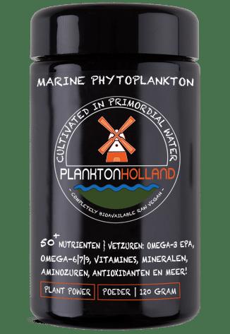 marine phytoplankton poeder 120 gram plankton violet glas
