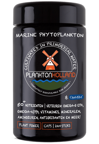 msm plankton capsules 240 stuks violet glas
